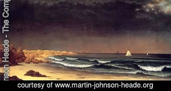 Martin Johnson Heade - Approaching Storm, Beach Near Newport