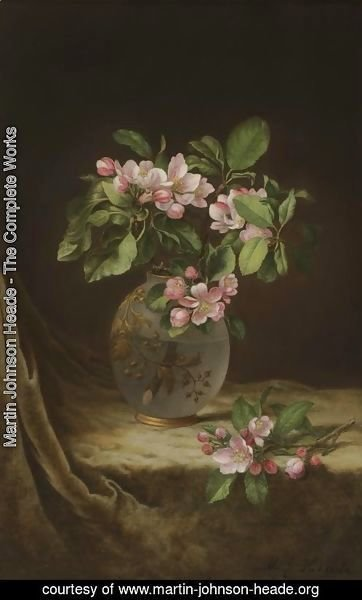 Apple Blossoms in an Opalescent Vase