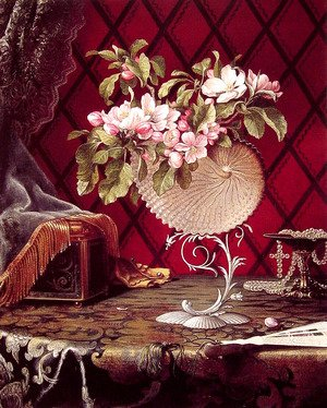 Martin Johnson Heade - Still Life with Apple Blossoms in a Nautilus Shell
