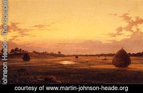 Martin Johnson Heade - Marsh at Dawn 1859