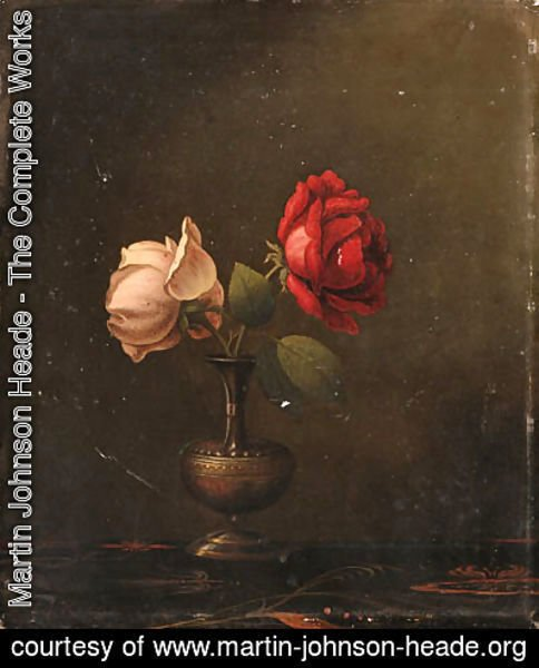 Still Life with Red and Pink Roses