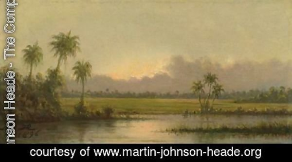 Martin Johnson Heade - Palm Trees, Florida