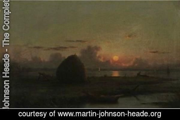 Martin Johnson Heade - Haystack At Sunset