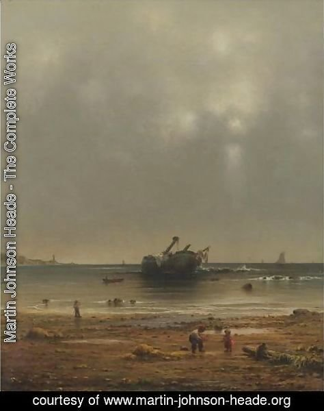 Martin Johnson Heade - The Old Shipwreck