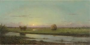 Martin Johnson Heade - Sunset Over Newburyport Meadows