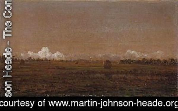 Martin Johnson Heade - Low clouds over a marsh