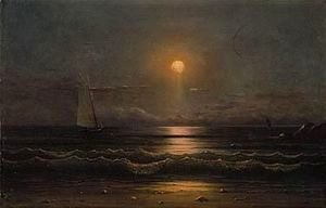 Martin Johnson Heade - Sailing by moonlight 2