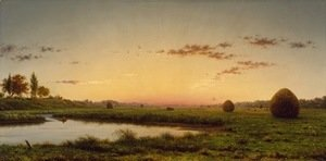 Martin Johnson Heade - Haystacks on the Newburyport Marshes