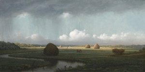 Martin Johnson Heade - Sudden Showers, Newbury Marshes