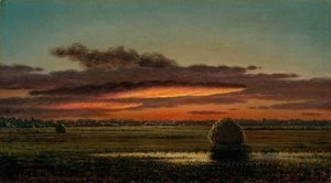 Martin Johnson Heade - Sunset Over the Marshes