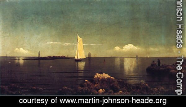 Martin Johnson Heade - A Summer Afternoon Aka Boston Harbor