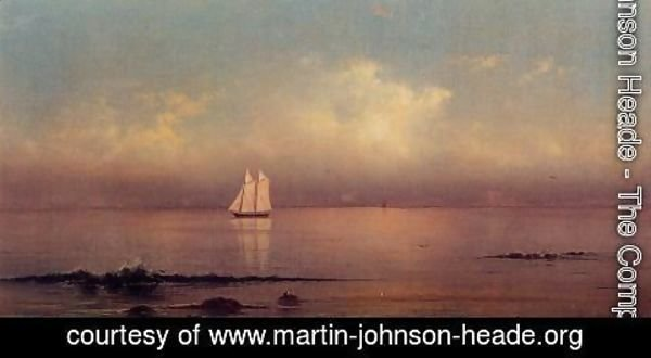 Martin Johnson Heade - Becalmed  Long Island Sound