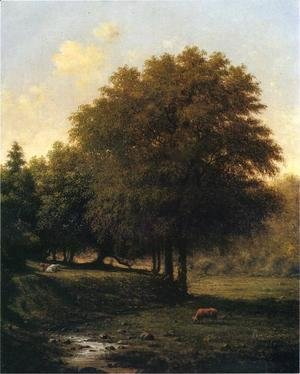 Martin Johnson Heade - Cows In A Landscape