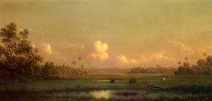 Martin Johnson Heade - Evening  Lake Alto  Florida