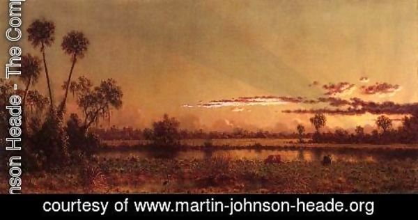Martin Johnson Heade - Florida Sunset