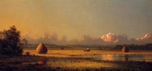 Martin Johnson Heade - Hayfields A Clear Day