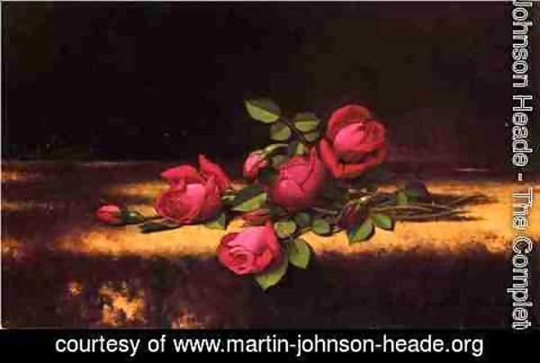 Martin Johnson Heade - Jaqueminot Roses