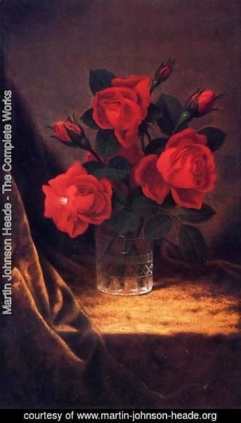 Martin Johnson Heade - Jaqueminot Roses 2