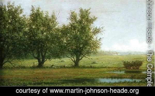 Martin Johnson Heade - Landscape With Hay Wagon