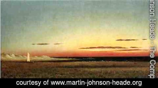 Martin Johnson Heade - Marsh Scene At Dusk