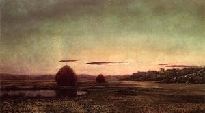 Martin Johnson Heade - Marsh Scene  Sunset   Sketch