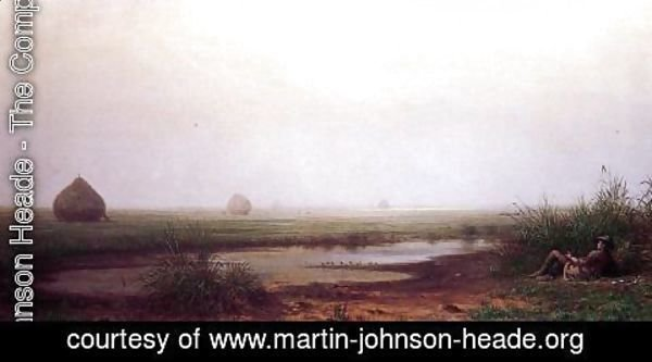 Martin Johnson Heade - Marsh With A Hunter
