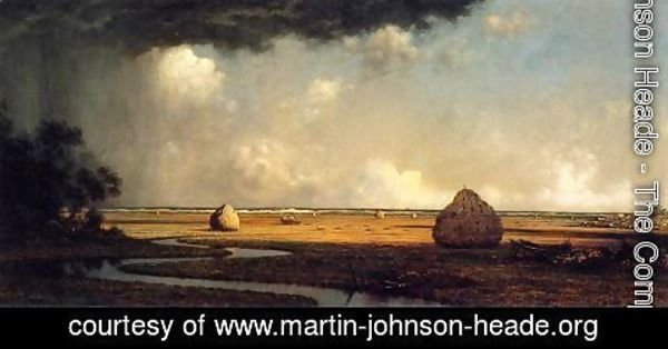 Martin Johnson Heade - Marshfield Meadows  Massachusetts