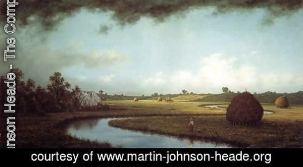 Martin Johnson Heade - Newburyport Marches Approaching Storm