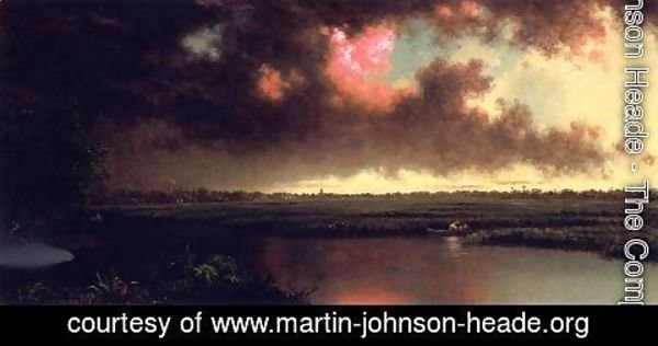 Martin Johnson Heade - On The San Sebastian River  Florida