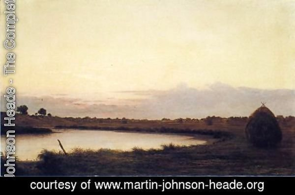Martin Johnson Heade - Quiet River At Dusk