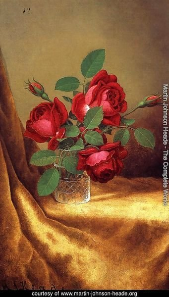 Red Roses In A Crystal Goblet