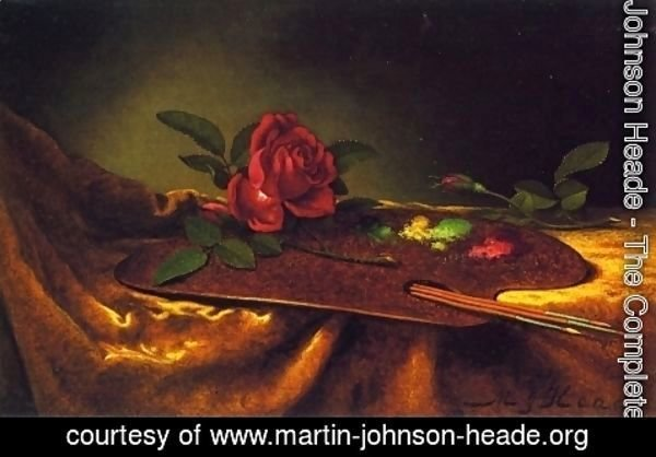 Martin Johnson Heade - Roses On A Palette