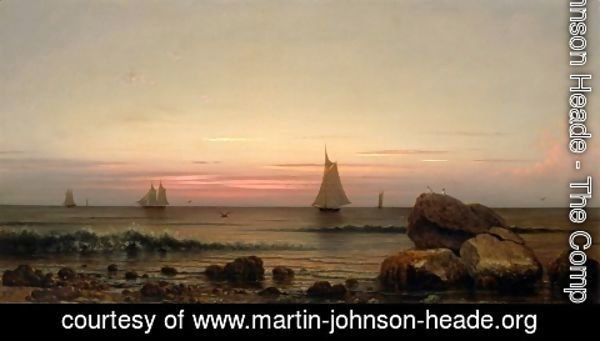 Martin Johnson Heade - Sailing Off The Coast