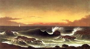 Martin Johnson Heade - Seascape Sunrise