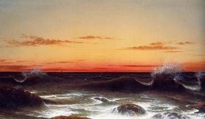 Martin Johnson Heade - Seascape Sunset