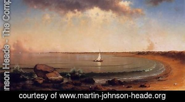 Martin Johnson Heade - Shore Scene Point Judith