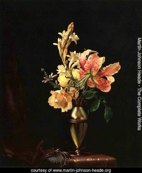 Still Life With Flowers In A Silver Vase