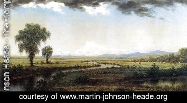 Martin Johnson Heade - Storm Clouds Over The New Jersey Marshes