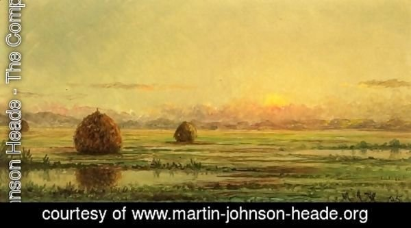 Martin Johnson Heade - Sunset   A Sketch
