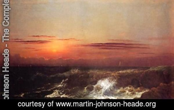 Martin Johnson Heade - Sunset At Sea