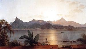 Martin Johnson Heade - Sunset Harbor At Rio