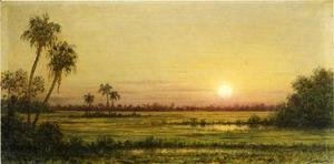 Martin Johnson Heade - Sunset In Florida