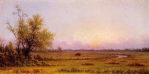 Martin Johnson Heade - Sunset Marsh Aka Sinking Sun
