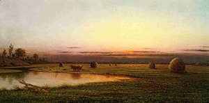 Martin Johnson Heade - Sunset On The Rowley Marshes