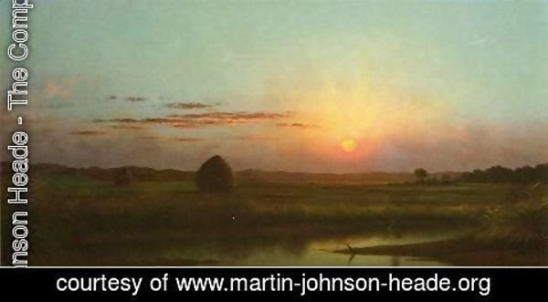 Martin Johnson Heade - Sunset Over The Marsh