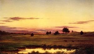 Martin Johnson Heade - Sunset  Rhode Island