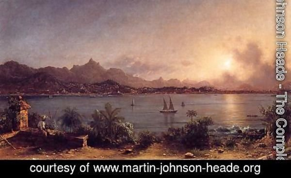 Martin Johnson Heade - The Harbor At Rio De Janiero
