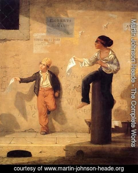 Martin Johnson Heade - The Roman Newsboys