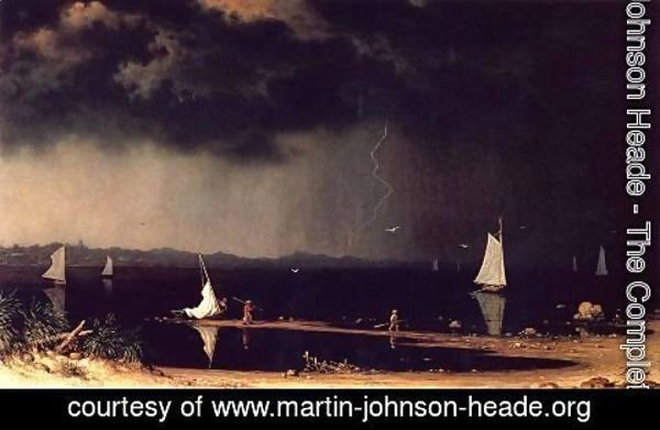 Martin Johnson Heade - Thunder Storm On Narragansett Bay