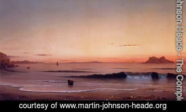 Martin Johnson Heade - Twilight  Singing Beach